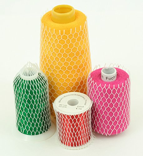 10 Yards of Thread Net Spool Saver for Sewing Embroidery Machine Mess/Tangle Free Spools Prevents Unwinding Perfect for Small / Large Cones 10 Free Embroidery