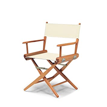 Amazon.com : Telescope Casual World Famous Dining Height Director Chair,  Natural With Varnish Frame : Wood Folding Chair : Home Improvement