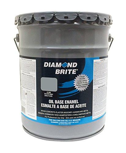 Diamond Brite Paint 31200 5-Gallon Oil Base All Purpose Enamel Paint   Silver Grey (Best Paint For Exterior Concrete Walls)