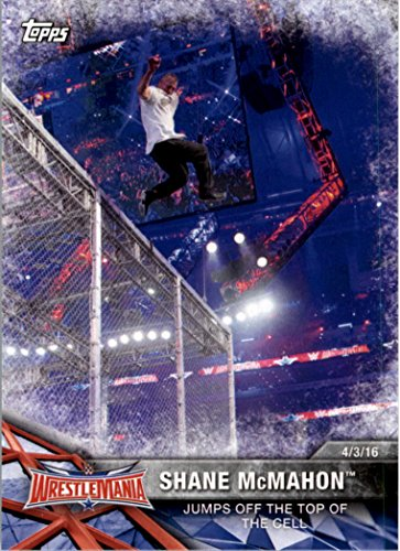 2017-topps-wwe-road-to-wrestlemania-60-shane-mcmahon-jumps-off-the-top-of-the-cell-nm-mt