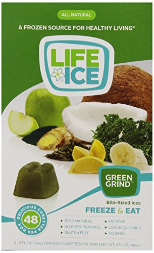 LifeIce Bite-Sized Ices, Green Grind, 4 Ounce (Bite Desserts Sized)