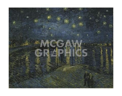 Starry Night Over the Rhone - Poster by Vincent Van Gogh