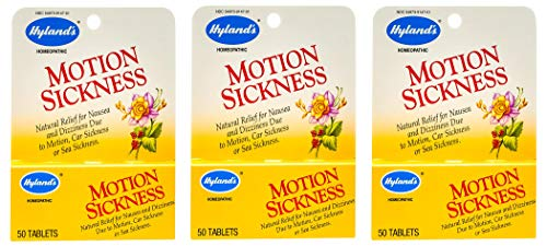 Hylands Motion Sickness 50 Tabs - Natural Relief Motion Sickness Tablets 50 ea by Hyland's (Pack of 3)