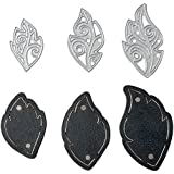 Sizzix 661330 Movers & Shapers Magnetic Die Set with Thinlits, Leaf Charms by Lindsey Serata (3-Pack),,