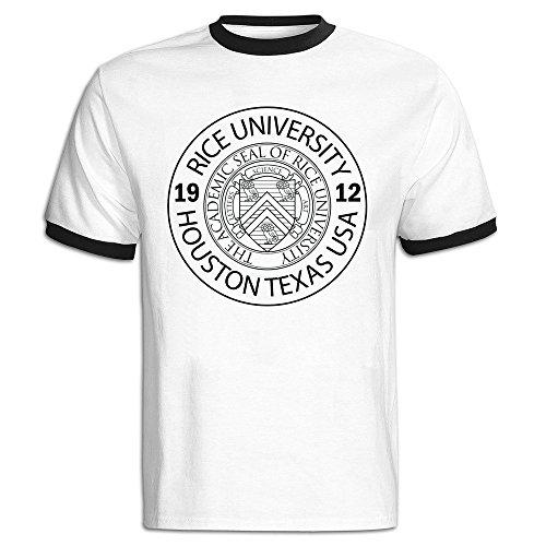 Men's Rice University EST. 1912 Houston Texas United States Baseball T-shirt Black -