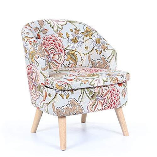 WHLMDZI Single Sofa Recliner -Balcony Sofa - Chaise Longue Lazy Sofa Living Room Leisure Seat High Rebound Sponge Seat Cushion Stool Legs Detachable Scallop Chair 52x45x75cm (Color : Multi-Colored) (Seat Window Uk Cushions)