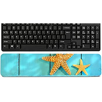 Luxlady Keyboard Wrist Rest Pad Long Extended Arm Supported Mousepad American West Rodeo Vintage Western Riding Spurs on Traditional Leather Cowboy Boots with d