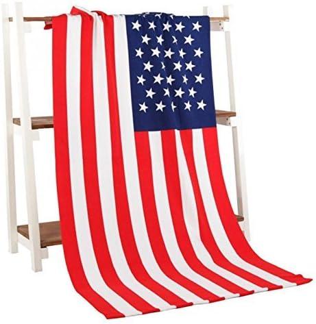 DaHanBL - Toalla de baño de microfibra estampada con bandera de Estados Unidos (70 x 140 cm): Amazon.es: Hogar
