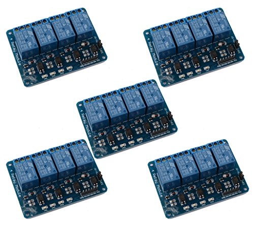 (DAOKI 5PCS 4-Channel DC 5V Safety Relay Shield Module Board with Optocoupler for Arduino DSP AVR PIC ARM TTL Logic)