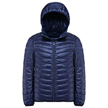 Cozy Age Mens Ultralight Packable Hooded Down Puffer Jacket with Carry Bag