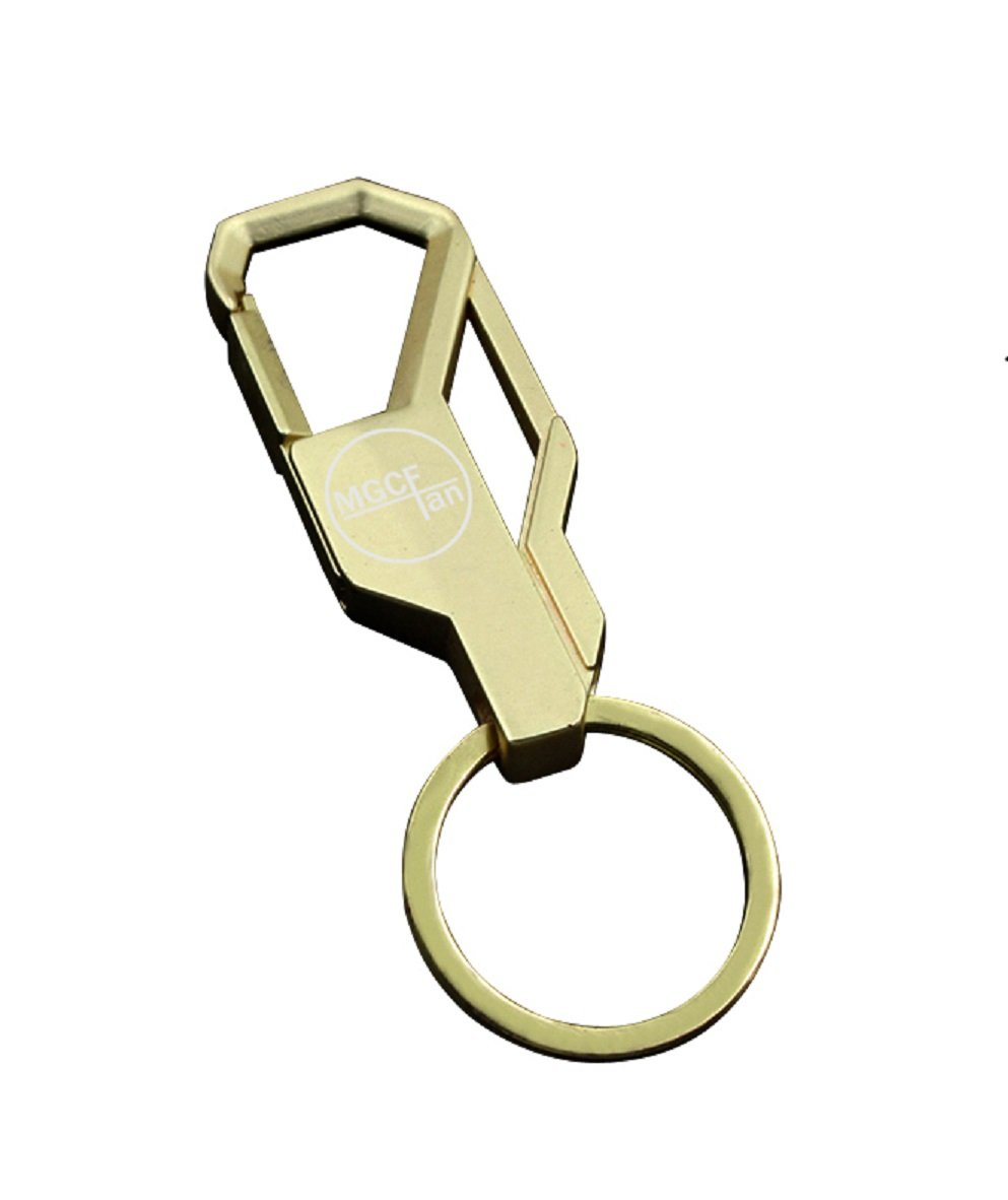 Car KeyChain Key Ring Liangery MGCFTan Durable Metal Gift Keyrings for Men (Gold)
