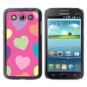 Corazón Verde Modelo anaranjado púrpura - Metal de aluminio y de plástico duro Caja del teléfono - Negro - Samsung Galaxy Win I8550
