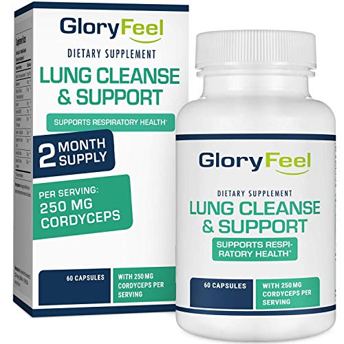 Gloryfeel Lung Cleanse Support Supplement - Respiratory Support - Helps to Quit Smoking & Supports Respiratory Health - Lung Support & Asthma Relief, with Vitamins, enzymes & Herbs