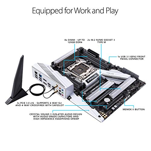 Build My PC, PC Builder, ASUS PRIME X299-DELUXE II