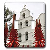 Henrik Lehnerer Designs - Holiday - Outside shot of the San Diego Mission Basilica. - Light Switch Covers - double toggle switch (lsp_240361_2)