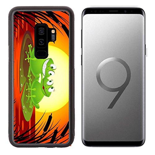Liili Premium Samsung Galaxy S9 plus Aluminum Backplate Bumper Snap Case Frog couple cartoon IMAGE ID 9569145