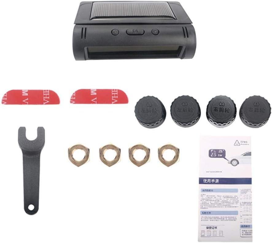 Auto automatische Hintergrundbeleuchtung sowie Schlaf- und Weckmodus Wohnmobil TPMS Reifendruck/überwachungssystem Solaraufladung 6 Alarmmodi Smartey Reifendruck/überwachungssystem LKW