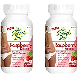 The Swedish Diet Twin Pack Rapberry Ketones, 6 Ounce