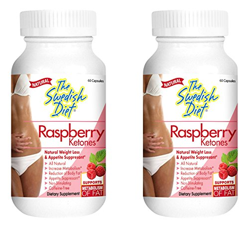 RASPBERRY KETONES Capsules, 250 mg, Twin Pack SAFE & EFFECTIVE WEIGHT LOSS - Our 100% NATURAL Raspberry Ketones will help you LOSE WEIGHT FAST, and KEEP IT OFF by The Swedish Diet