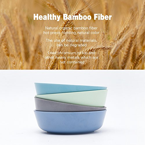4Pcs Bamboo Kids Bowls For Baby Feeding Non Toxic   Safe Toddler Bowls  Eco Friendly Tableware For Baby Toddler Kids Bamboo Toddler Dishes   Dinnerware Sets