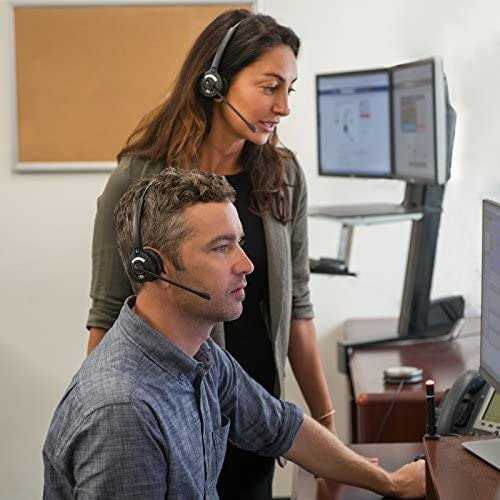 Leitner OfficeAlly LH270 Wireless Telephone Headset with USB Work-from-Home Connection - 5-Year Warranty - Works with Cisco, Polycom, Yealink, Avaya, Softphones, VoIP, Skype, and 99% of Office Phones