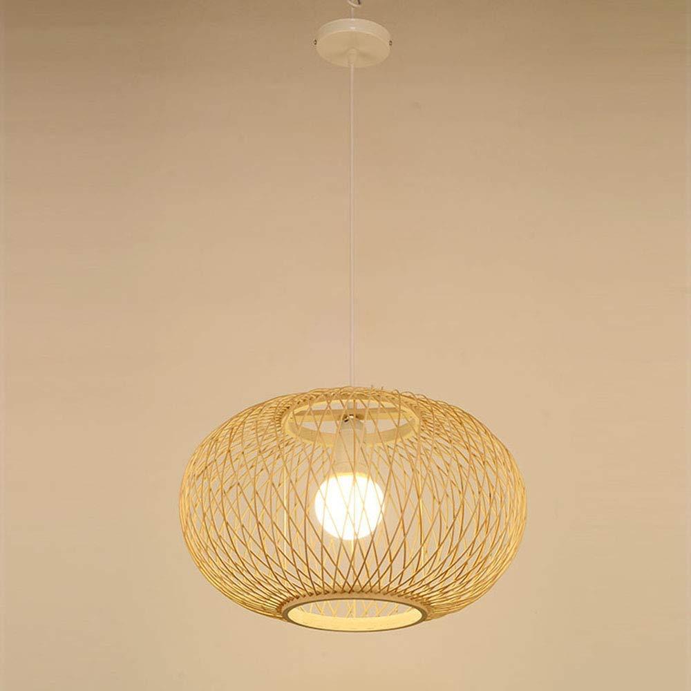 E27 Bambou Abat-Jour Chambre /à Coucher Salon de Plafond Lustre Salon de Th/é Teahouse Seul Lustre R/étro Cage Lustre