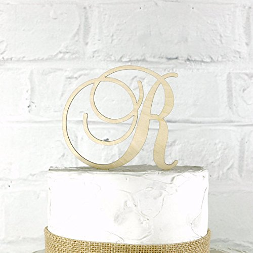 Amazon Com 4 Inch Rustic Wedding Cake Topper Monogram Personalized