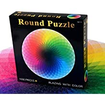 1000 Pcs Round Jigsaw Puzzles Rainbow Palette Intellectual Game For Adults and Kids