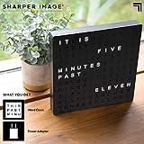 Sharper Image Light Up Electronic Word Clock, Black