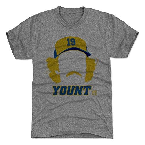 - 500 LEVEL Robin Yount Triblend Shirt Small Tri Gray - Vintage Milwaukee Baseball Men's Apparel - Robin Yount Silhouette B