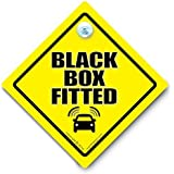 Black Box Fitted Car Sign, Black Box Sign, Restricted Speed Car Sign, Speed Monitored Car Sign, Anti Road Rage Car Sign, Tailgater Car Sign, Bumper Sticker, Baby on Board, Driving Sign, Automobile Sign, Vehicle Sign, Joke Car Sign, Funny Car Sign, I Want That Sign