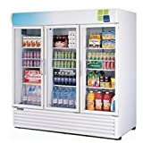 Turbo Air - 78'' 3 Glass Swing Door Refrigerated Beverage Merchandiser