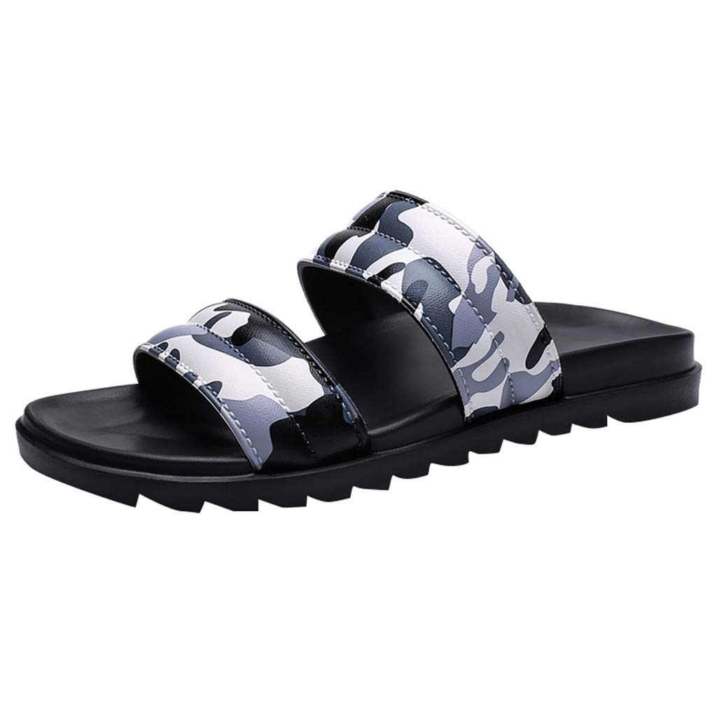 Sunyastor Men Slipper Summer Beach Flip Flops Camouflage Shoes Sandals Outdoor Male Slipper Flat Shoes for Men