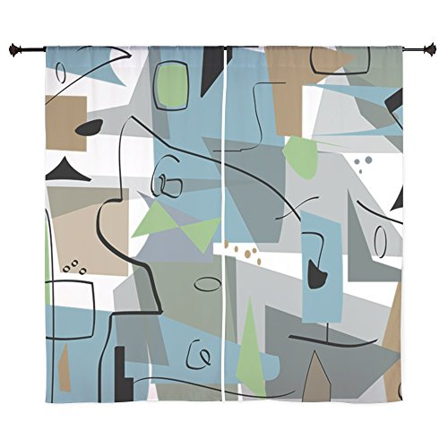CafePress – Mid-Century Modern Abstract Curtains – 60″ Decorative Window Curtains, Sheer Drapery Window Treatment 51vTlDko aL
