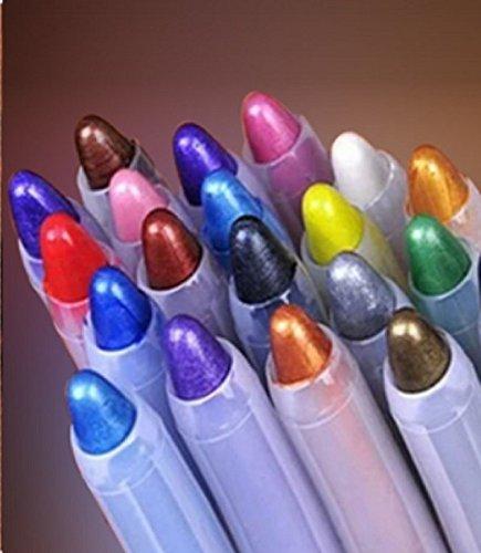 BuyerKit(TM) 1 pcs Waterproof Brand Makeup Eye Liner Pencil Eyeliner Pen Eyeshadow maquiagem sombra Beauty Lady Make up Top Quality 5 Colors