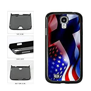 Finland and USA Mixed Flag Plastic Phone Case Back Cover Samsung Galaxy S4 I9500