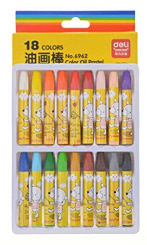 PANDA SUPERSTORE Children Oil Pastels Washable Crayons/Non-Toxic Color Pens (Random Color)