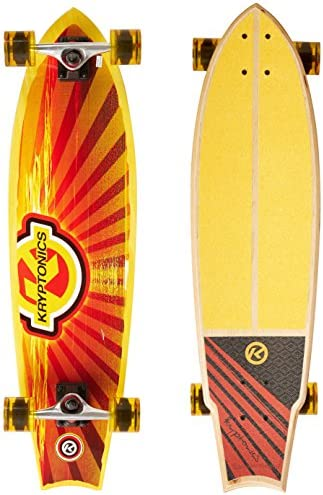 Kryptonics 34 Swallowtail Longboard Complete Skateboard – Cali Dream Graphic