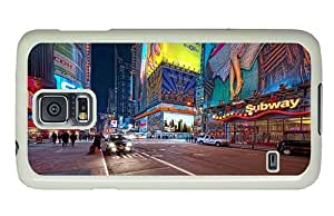 Hipster Samsung Galaxy S5 Case underwater cases New York Lights PC White for Samsung S5