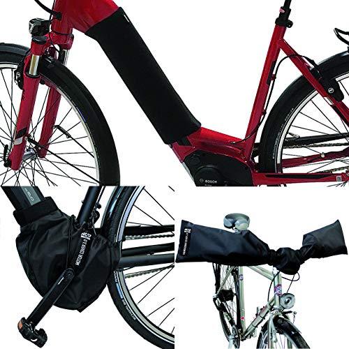 NC-17 E-Bike beschermhoezenset/accu cover voor onderbuis/motorcover/stuurhoes/nylon en neopreen/zwart