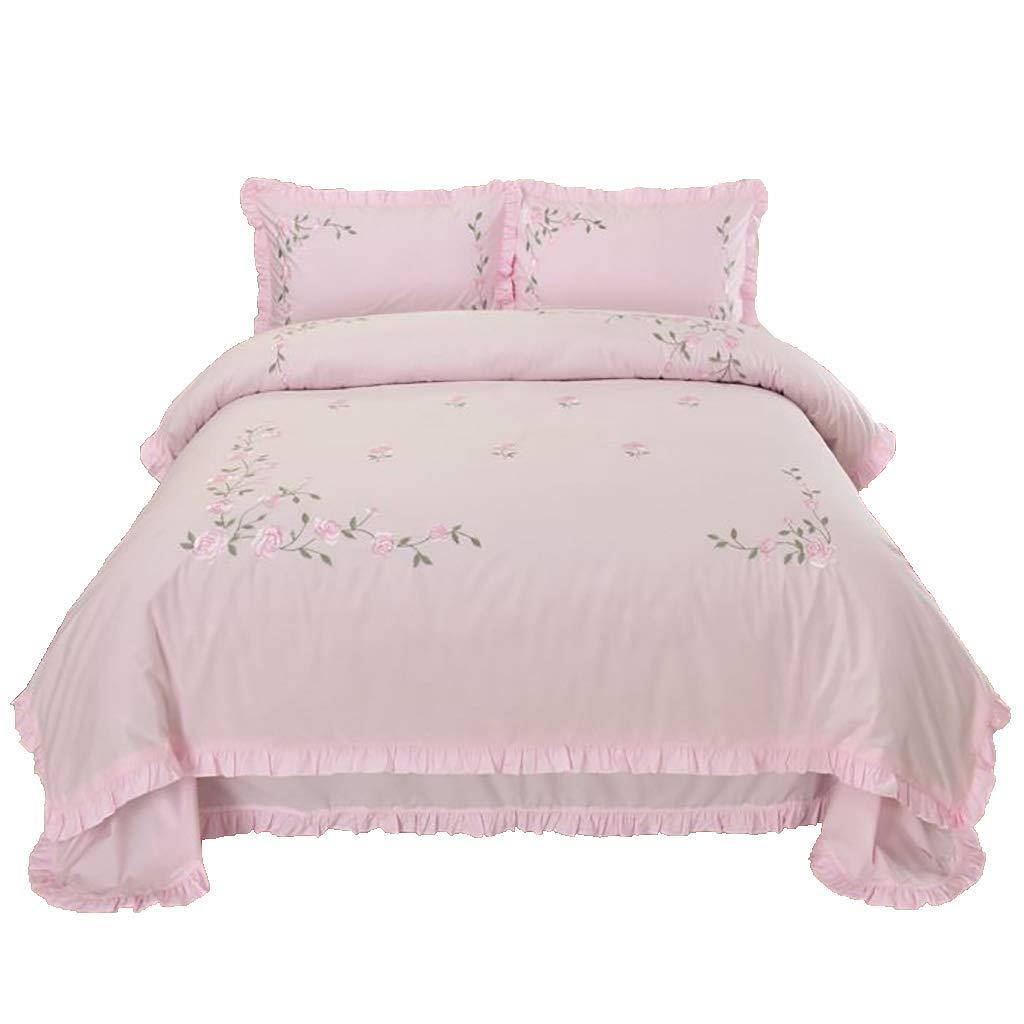寝具カバーセット ベッドには3/4個セットベッドシーツベッドカバーピローケースクッションカバー布団カバーギフトベッドセット寝室ベッドルームホテルファミリー (色 : 3 piece set, サイズ さいず : 1.8M bed) B07PBKBBWX 3 piece set 1.8M bed