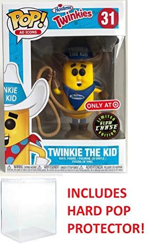 Funko POP! Ad Icons,Hostess Chase Twinkie Glow in The Dark Vinyl Figure Bundle