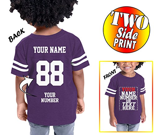 Tee Miracle Custom Cotton Jerseys For Toddlers and Kids - Make Your Own Jersey T Shirts - Personalized Team Uniforms For Casual Outfit (Baseball Jersey Team Kids)
