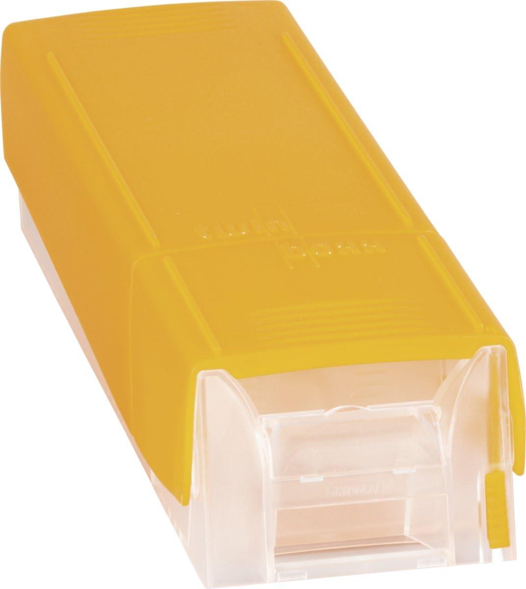tama/ño DIN A8, estireno, capacidad para aprox. 600 unidades Tarjetero Brunnen Twinboxx color azul