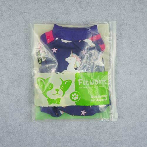 ab07ec34d269 Fitwarm Fairy Unicorn Pet Clothes for Dog T-Shirts Pullover Cat Shirts  Apparel Purple