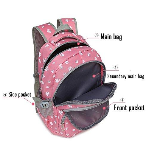 Abshoo Lightweight Kids Bookbag Cute School Backpacks for Girls (Rose Red)