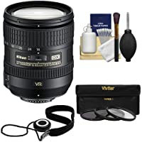 Nikon 16-85mm f/3.5-5.6 G VR DX AF-S ED Zoom-Nikkor Lens with 3 UV/ND8/CPL Filters + Kit for D3200, D3300, D5300, D5500, D7100, D7200 DSLR Cameras