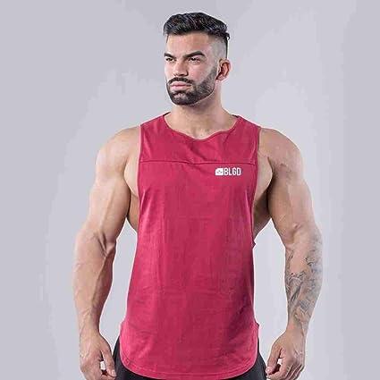 Mens Tank Top Cotton Sports Summer Sleeveless Vest