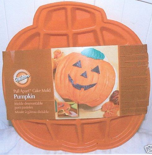 Wilton Cake Pan: Silicone Pull-Apart Pumpkin Jack-O-Lantern Cupcake Brownie Mold ~ 22 Cavities (Halloween Pull Apart Cupcakes)