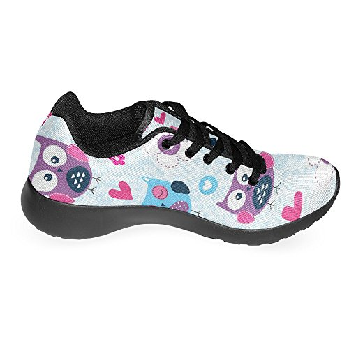 Interestprint Womens Jogging Running Sneaker Leggero Go Easy Walking Casual Comfort Sport Scarpe Da Corsa Simpatico Gufo Birds Multi 1